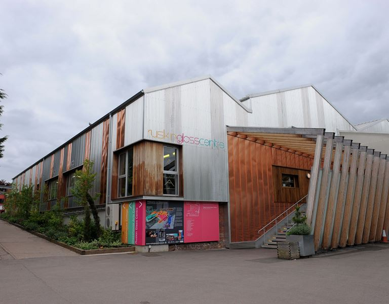 ruskin glass centre showing building entrance